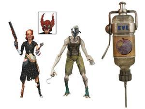 NECA Exclusive Bioshock Gift Set--EVE Hypo Light-Up Syringe and Splicer Action Figure Bundle