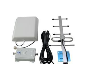 New Phonetone 70dB High Gain Powerful 850MHz Mobile signal booster cell phone repeater Wireless Amplifier Extender With Antennas power supply Full Set