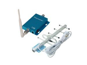 Phonetone 62dB 850MHz 3G GSM CDMA Cell Phone Signal Booster Repeater Amplifier Kit with Whip Antenna and Outdoor Yagi Antenna for Home/Office Use