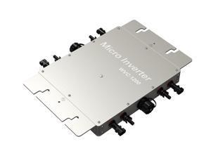 WVC1200 1200Watt 120V Waterproof Wide Voltage Solar Grid-tie Micro Power Inverter Converter Pure Sine Wave Output Inverter Power Line Communications (Input 17-50V DC, Output 80-160V AC)