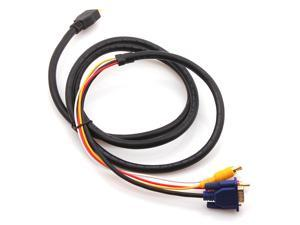 HDMI HDTV to VGA 3 RCA Component Audio Video Adapter Converter Cable 5ft 1.5M