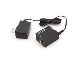Compact size Digital Coaxial Optical Toslink to Analog L/R Audio Converter