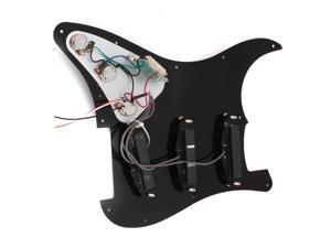 Black Prewired Pickguard SSS w/ pickups For Guitar