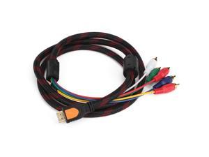 HDMI Male to 5RCA Audio Video AV adapter Cable for HDTV Home Theater Systems