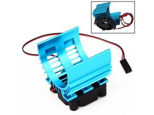Blue Radiator for 1/10 Car 540/550 3650 Size Motor with 4.8-6V Cooling Fan