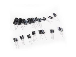 Powerful 25 Value 1uF~2200uF Electrolytic Capacitors Assorted Set 125Pcs Marker