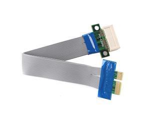 1X PCI-E Extension Extender Cable Riser Card Flexible Cable Expansion Cord