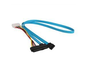 7 Pin SATA Serial ATA Male to 29 Pin SAS Connector 4 Pin Power Adapter Cable
