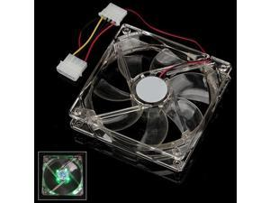 120 x 120 x 25mm 4 LED Green Light 4Pin PC Chassis Case Cooling Fan 2pcs