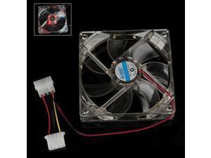DC 12V Brushless Cooling Fan for Computer Case 4 LED Red Light  2pcs