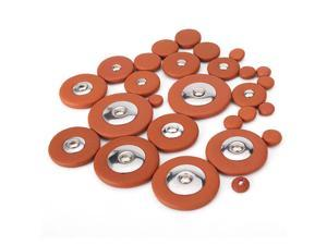 Orange Bb Saxophone Replacement Woodwind Leather Pads
