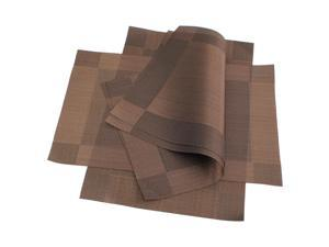 4x Brown PVC Insulation Placemat Mat Restaurant Napkin Dining Table Decoration