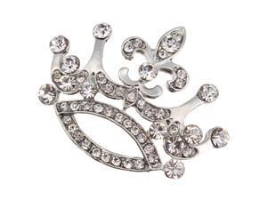 Gorgeous Clear Crystal Crown Pin Brooches Rhinestone Charm Lady Luxury Brooch