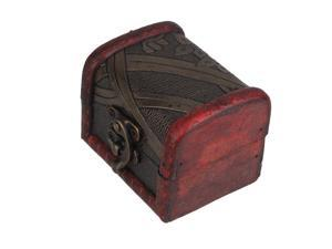 Grocery Style Jewelry Box Small Red Wooden Sundries Storage Box Mini Case