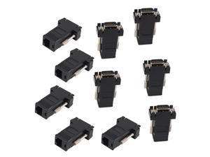 10 x Video Extender Adapters HD15 to CAT5e CAT6 100'  VGA SVGA to RJ45 Black
