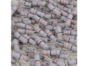 Electirc Components Fixed 2W Carbon Film Resistors 330 Ohm 5% Tolerance 200pcs