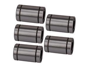 5 x Silver 8mm Linear Motion Ball Bear Bearing Steel Bush Bushing LM8UU