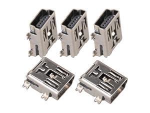 100 x Type B Mini USB Female Jack Data Charge PCB Port Jack Connector Socket