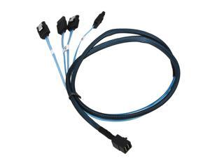 Mini SAS SFF-8643 Host to 4 SATA SAS Cable 7P High Speed 12Gb/s 1M
