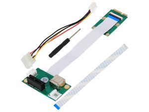 Mini PCI-E to PCI-E Express 1X +USB Riser Card with FFC Cable Up to 2.5Gpbs