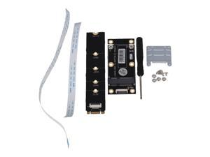 Flexible Cable mSATA SSD to M.2 NGFF Key B Adapter With Screw Black 110mm