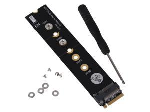 Metal PCI-e Flexiable PCB M.2 NGFF M Key Extender Adapter Black  With Screws
