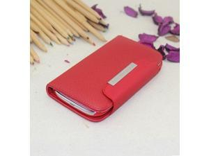 Euroge Tech Deluxe Folio Wallet Leather Case Pouch for Samsung i9220/ N7000 (Red)