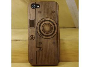 Euroge Tech 100% Walnut Wood Natural Wooden Case for iPhone 5 Camera1