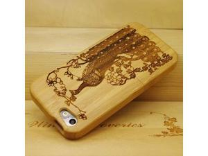 Euroge Tech 100% Natural Bamboo Case for iPhone 5 Peacock