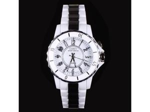 Ohsen Fashion Stainless Steel 7 Colors LED light Sport Analog Quartz White Band Wrist Watch