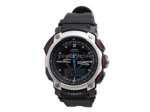 Ohsen 30M Waterproof Rubber Band Round Analog Unisex Sport Quartz Wrist Watch White