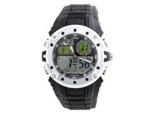 Ohsen 30M Waterproof Men Dial Silicone Band Quartz Unisex Sports Wrist Watch White