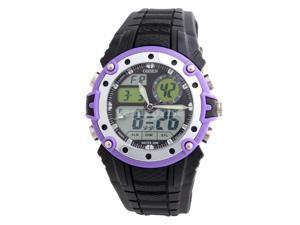 Ohsen 30M Waterproof Men Dial Silicone Band Quartz Unisex Sports Wrist Watch Purple