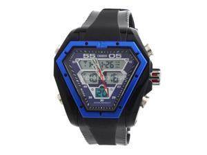 Ohsen 30M Waterproof Silicone Rubber Men Unisex Sport Quartz Wrist Watch Blue