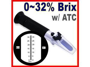 Black RHB-32ATC Brix Refractometer 0-32%ATC Fruit Juice
