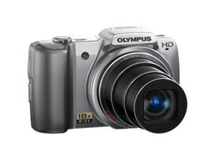 Olympus SZ10 SZ-10 14MP Digital Camera 28mm Wide-Angle 18x Optical Zoom SILVER