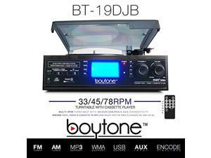Boytone BT-19DJB-C Multi RPM Turntable, Black