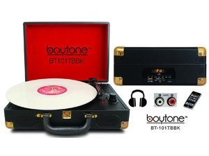 Boytone BT-101TBBK Mobile Suitcase Turntable, Black
