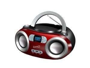 Supersonic Portable Bluetooth Audio System MP3/CD Player SC-509BT RED NEW