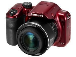Samsung WB Series WB1100F 16.2 MP Digital Camera - Red