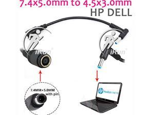 Ac Power Cord Laptop Adapter Tip Connector Converter for Hp Pavilion Envy Elitebook, Dell Latitude Inspiron XPS Precision to Asus Vivobook, Toshiba Satellite, Lenovo Ideapad Laptop Charger Dongle