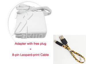 For APPLE MACBOOK PRO RETINA 60W Replacement AC POWER ADAPTER A1435 A1502 A1435 For Macbook Air 16.5V 3.65A + Leopard-print USB lightning Cable