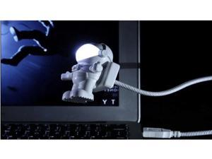 Space Astronaut USB LED Night Light Computer Flexible PC Night Lamp White Color