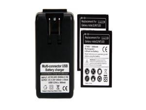 Lot  2  New 3500mAh Battery + Charger for SamSung Galaxy Note 2 II N7100 GT-N7100 2014