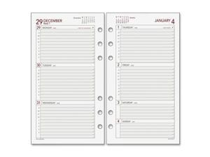 "Day Runner Express 063285Y Planning Page - Weekly - 3.75"" x 6.75"" - 1 Year - January till December - 9:00 AM to 5:00 PM 1 Week Double Page Layout - White"