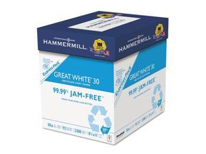 Great White Recycled Copy Paper 92 Brightness 20lb 8-1/2 x 11 2500 Shts/Ctn