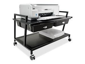 """Underdesk Machine Stand w/Drawer 25-1/4""""x15-3/4""""x15-3/4"""" BK"""