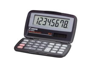 "Canon LS555H Wallet Calculator - 8 Character(s) - LCD - Solar, Battery Powered - 4.3"" x 2.9"" x 0.6"" - Black"