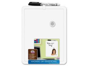 "Magnetic Dry-Erase Board 11""x14"" White Frame"