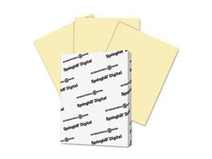 Digital Index Color Card Stock 90 lb 8 1/2 x 11 Canary 250 Sheets/Pack
